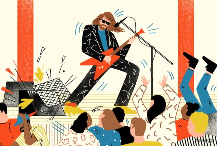 The First Gigs Of 7 Notorious Bands, Illustrated -musicians, music, illustrations