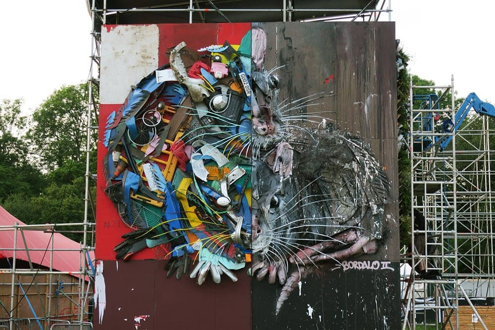 Gigantic Animals Made of Wood And Plastic Waste by Bordalo II -sculptures