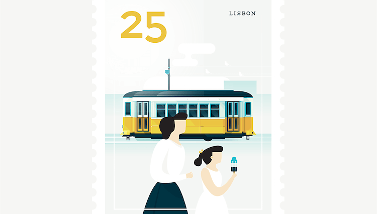 city stamps elen winata freeyork 6 750x426 - Beautifully Illustrated Postage Stamps of Beloved Cities Around the World