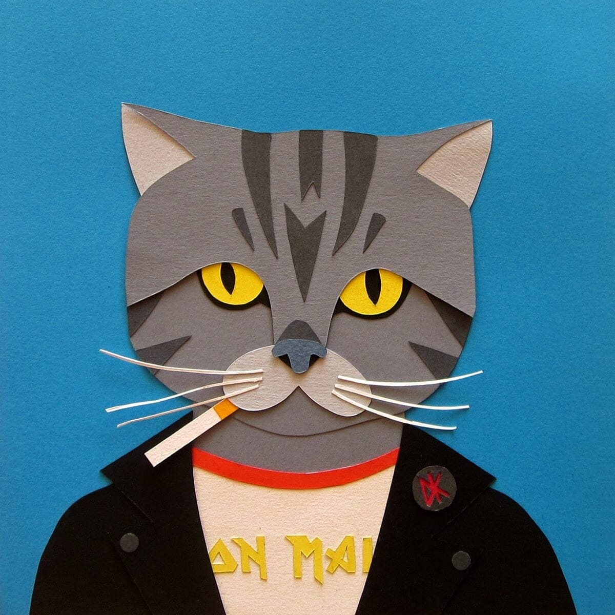 Fashionable Cats: Paper Collages of Cats by Kike Congrains -cats