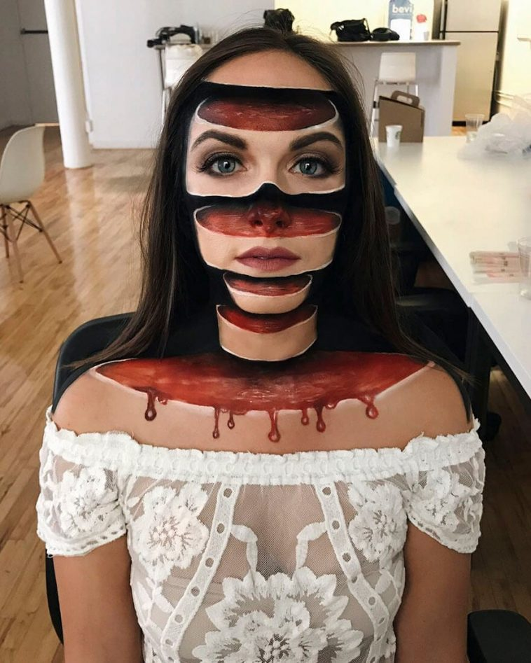 This Canadian Artist Creates Mind Boggling Optical Illusions With Makeup -makeup, make up