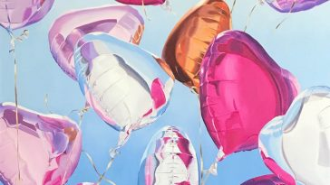 Realistic Paintings of Expressive Balloons by Gemma Gené -paintings