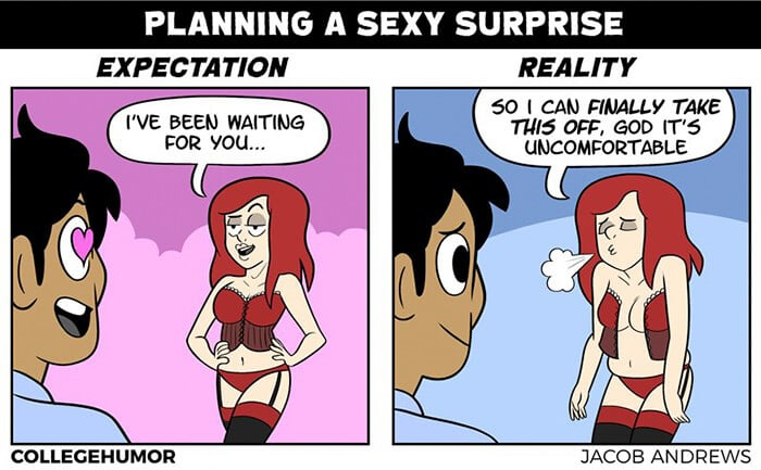 5 Hilarious Relationship Moments When Expectations Meet Reality -