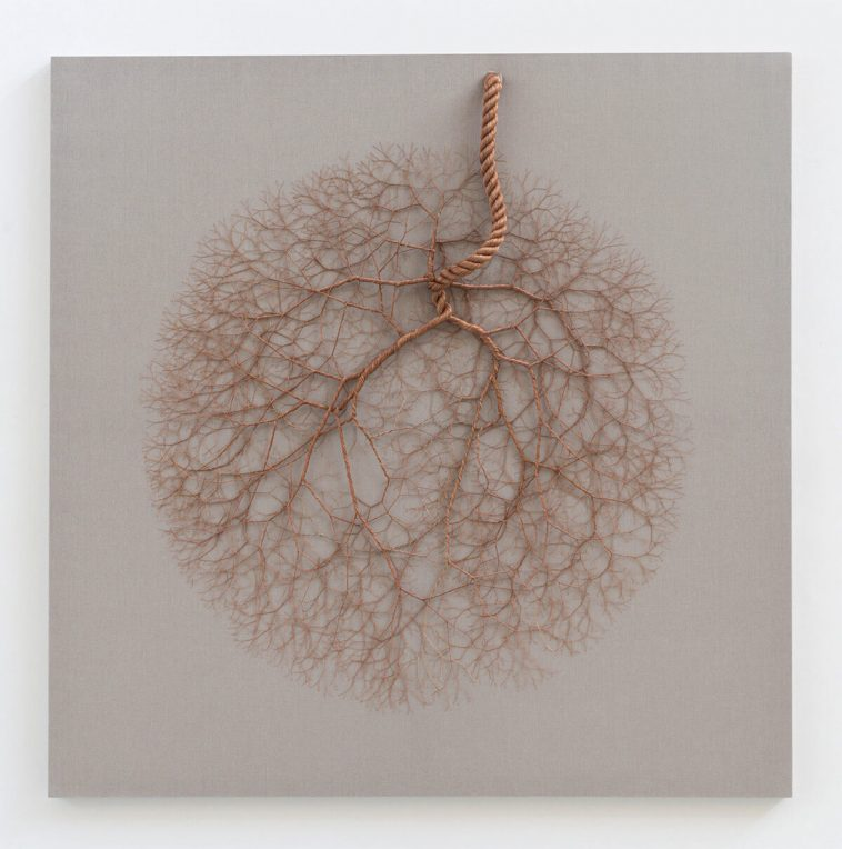 Janaina Mello Landini's Nervous System Looking Rope Installations -trees, sculpture, rope, installation, gohome
