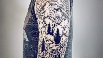Lisa Orth's Landscape Inspired Sleeve Tattoos -tattoo art, tattoo, gohome