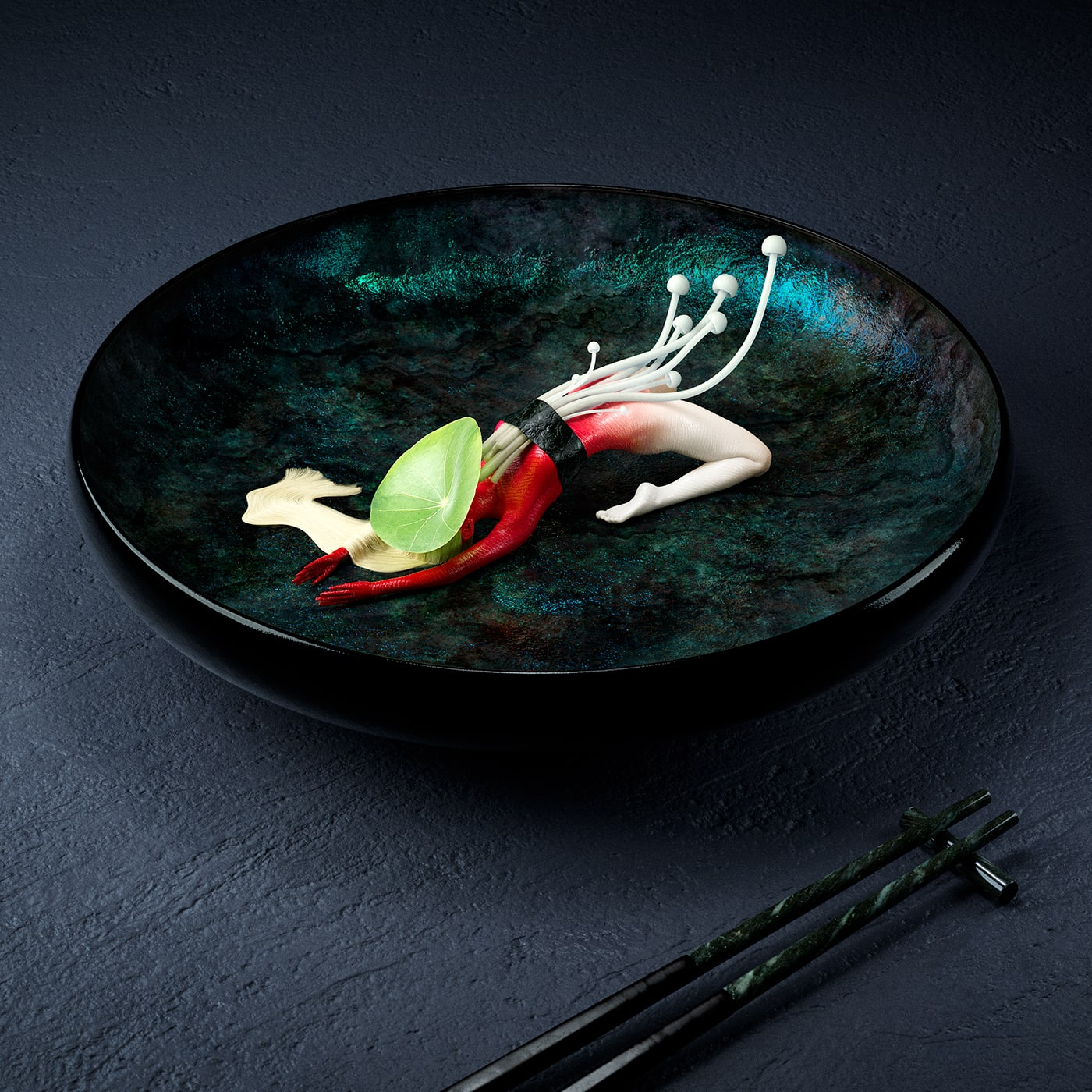 Cristian Girotto Olivier Masson freeyork 3 - French Duo Imagines Human Bodies as Sushi