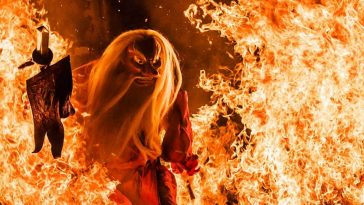 Beautiful Images From Fire Festival In Hokkaido, Japan -japan, festivals, festival