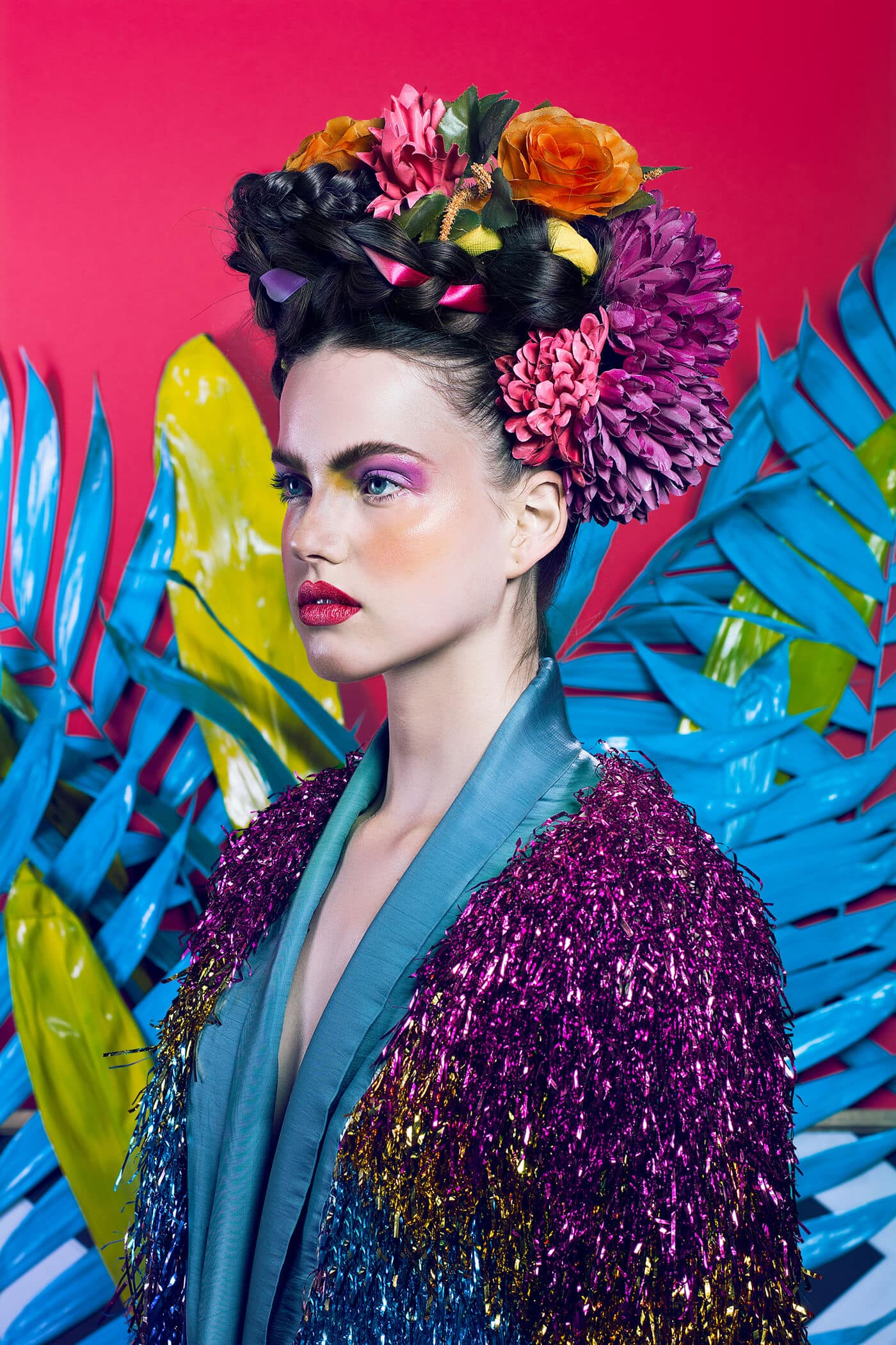 Photographer Reimaged Frida Kahlo As A Modern Fashion Icon in Vibrant Portraits -photo session
