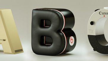 Famous Brands Alphabet Merged Technology and Typography Into Trademark Typography -typography, gohome