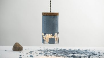 Slash Lamp fy 8 364x205 - Romanian Designer Created Concrete Lamp That Allows User Customize it with A Stone