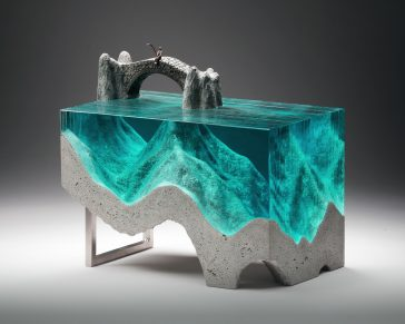 Ben Young's Layered Glass Sculptures -sculptures, sculpture, gohome, glass