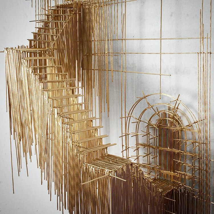 david moreno fy 12 - Spanish Artist Creates Suspended Staircase Sculptures That Look Like 3D Sketches