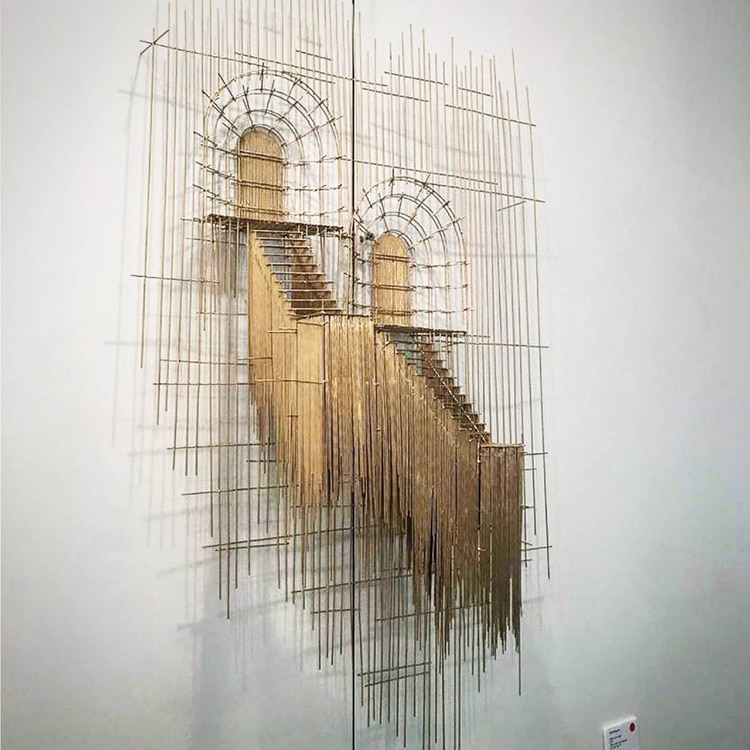 david moreno fy 13 - Spanish Artist Creates Suspended Staircase Sculptures That Look Like 3D Sketches