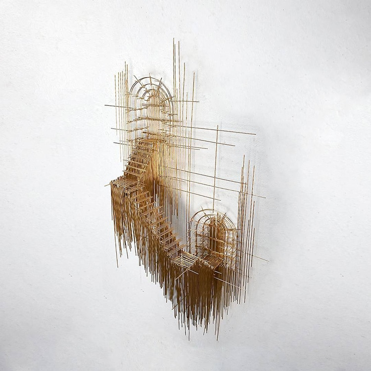 david moreno fy 15 - Spanish Artist Creates Suspended Staircase Sculptures That Look Like 3D Sketches