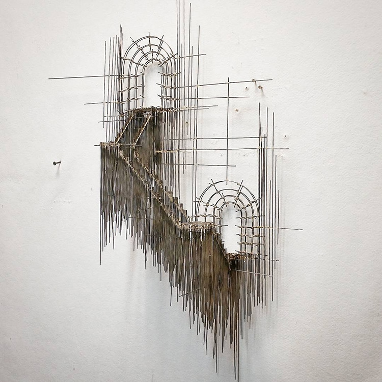 david moreno fy 19 - Spanish Artist Creates Suspended Staircase Sculptures That Look Like 3D Sketches