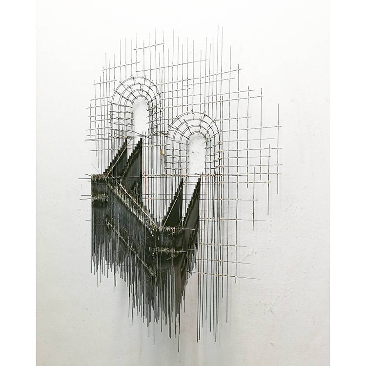 david moreno fy 2 - Spanish Artist Creates Suspended Staircase Sculptures That Look Like 3D Sketches