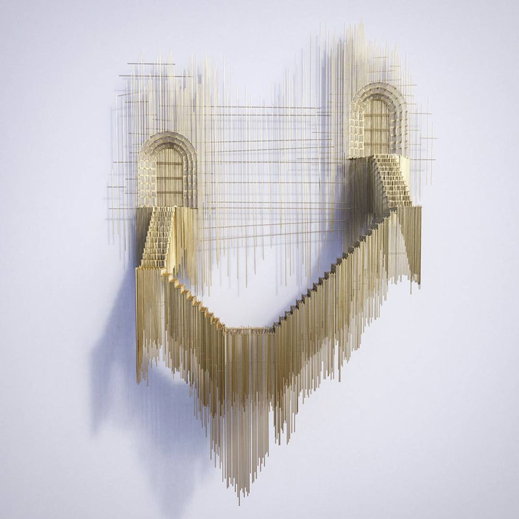 david moreno fy 3 - Spanish Artist Creates Suspended Staircase Sculptures That Look Like 3D Sketches