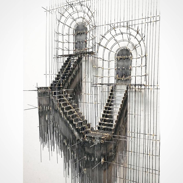 david moreno fy 7 - Spanish Artist Creates Suspended Staircase Sculptures That Look Like 3D Sketches