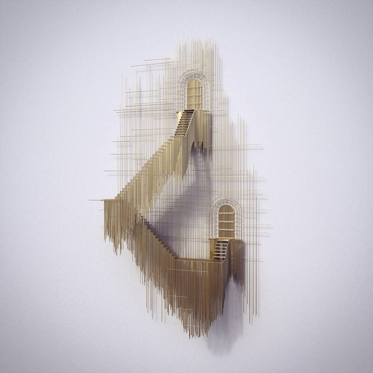 david moreno fy 8 - Spanish Artist Creates Suspended Staircase Sculptures That Look Like 3D Sketches