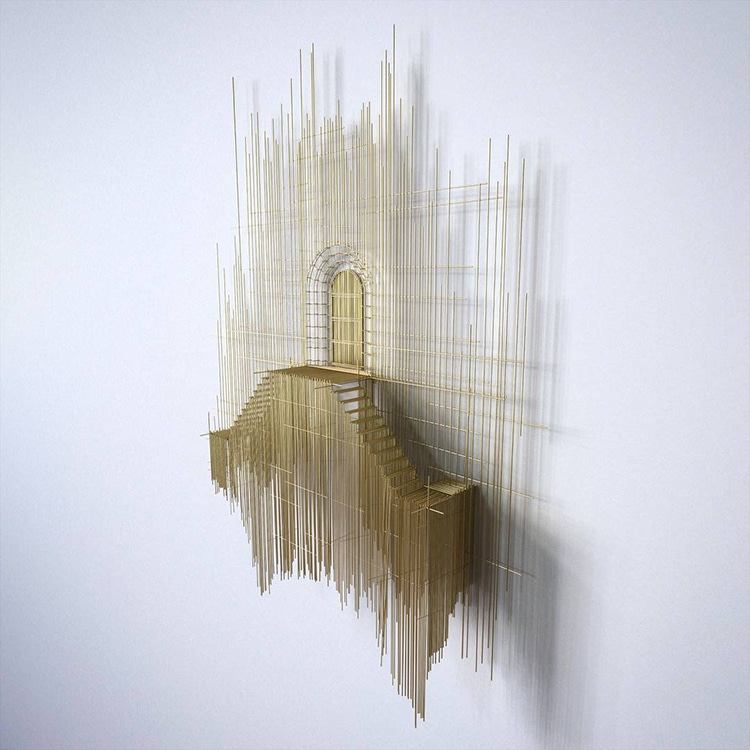 david moreno fy 9 - Spanish Artist Creates Suspended Staircase Sculptures That Look Like 3D Sketches
