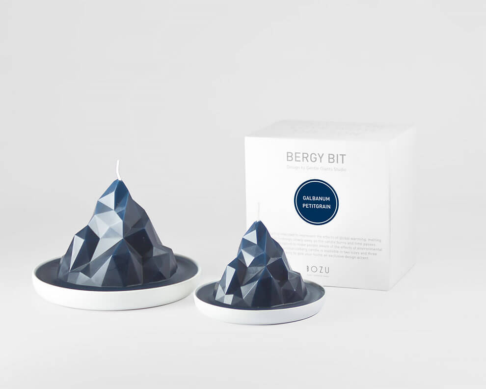 gentle giants studio candles fy 5 - Gentle Giants Studio Created A Collection Of Candles Designed To Raise Awareness Of The Global Warming