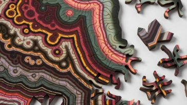 Laser-Cut Puzzles Created Based on Geological Forms -sculptures, sculpture, nature