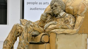 Giant Sculptures Created From Recycled Cardboard by James Lake -sculptures, sculpture, paper, cardboard, artist