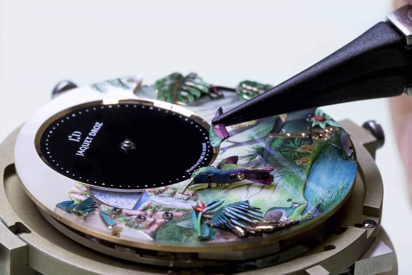 Limited Edition Luxury Jaquet Droz Tropical Bird Repeater Read -watches, watch