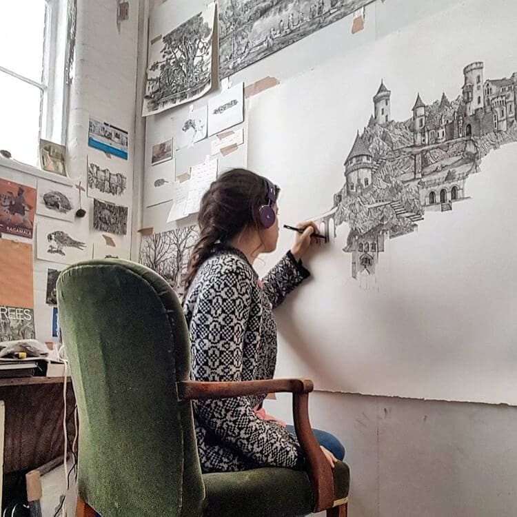 olivia kemp fy 10 - Artist Meticulously Creates Pen and Ink Drawings of Dreamy Landscapes