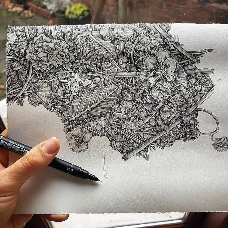 olivia kemp fy 11 - Artist Meticulously Creates Pen and Ink Drawings of Dreamy Landscapes