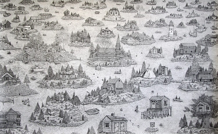 olivia kemp fy 4 - Artist Meticulously Creates Pen and Ink Drawings of Dreamy Landscapes