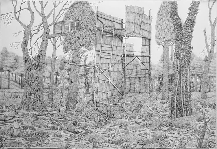 olivia kemp fy 7 - Artist Meticulously Creates Pen and Ink Drawings of Dreamy Landscapes