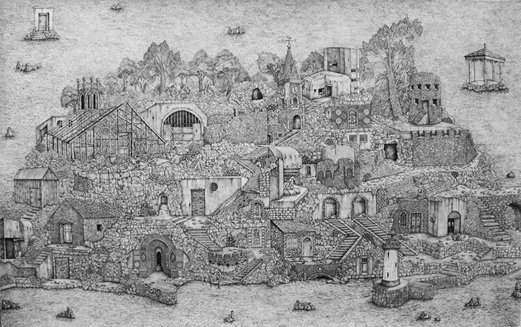 olivia kemp fy 8 - Artist Meticulously Creates Pen and Ink Drawings of Dreamy Landscapes