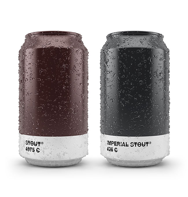 These Beer Cans Matched the Color of Each Brew with Pantone Number -package, beer
