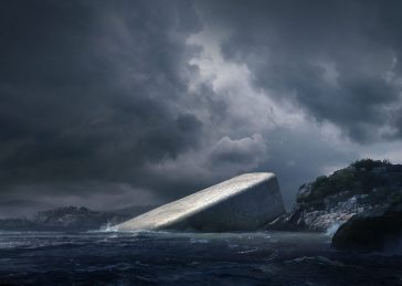 Europe's First Underwater Restaurant Is in Norway and Looks Like a Rock -sea, restaurant, architecture