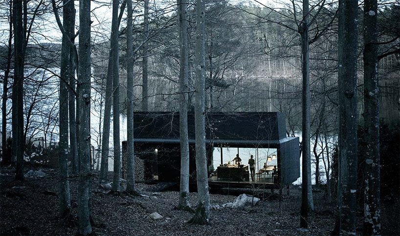 The Vipp Shelter Hotel Allows You to Spend the Night In Swedish Forests -villa, sweden, landscapes, house, gohome, forest, architecture