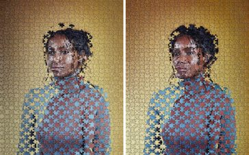 Alma Haser's Puzzling Portraits of Identical Twins -portraits, photo-project
