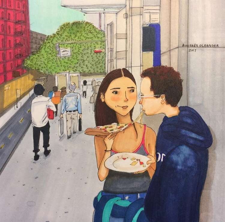 An Illustrator Shows 'What Love Looks Like, Whether You're in a Relationship or Not' in Lovely Illustrations -paintings, LOVE, illustrator, illustrations, illustration, drawings
