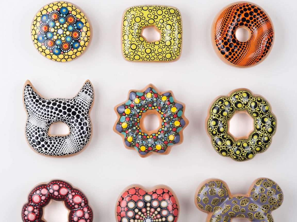 A Korean Artist Creates Creates Deliciously Glazed Ceramic Donuts -gohome, donut, ceramics, ceramic