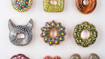 donut worry be happy fy 1 364x205 - A Korean Artist Creates Creates Deliciously Glazed Ceramic Donuts