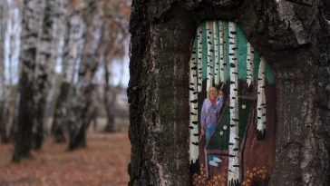 dudnikova eugene paintings fy 6 364x205 - Palette Of Paint And A Tree - Augmented Reality of Russian Street Artist