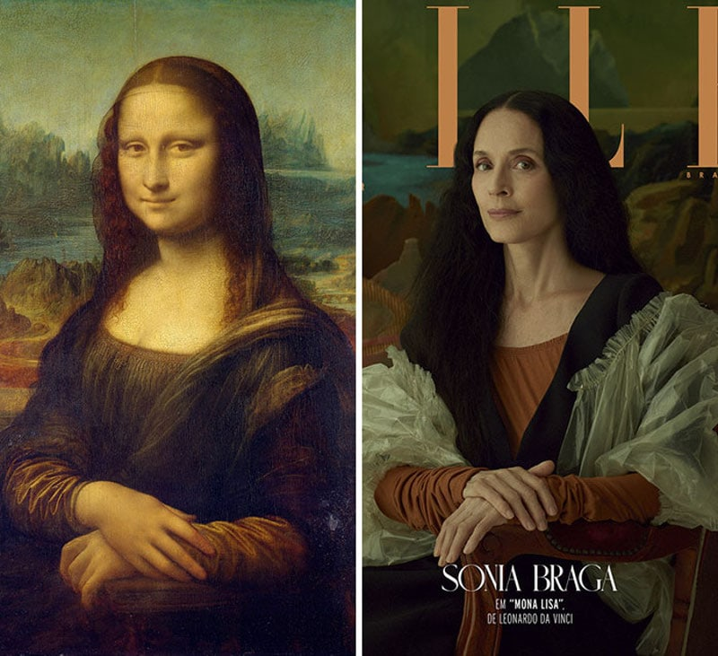 ELLE Brazil Reproduced 5 Iconic Paintings With Real People in Stunning Photosession -photoshoot, photo session, famous, celebrities, actresses