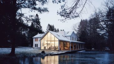 Floating Farmhouse In Rural New York by Tom Givone -new york, house, farmhouse