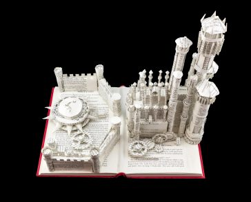Jamie Hannigan Creates Intricate Paper Sculptures Only Using The Pages Of A Book -paper-art, paper cut, paper, books