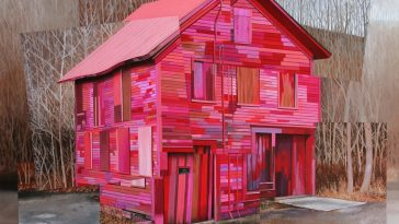 Jessica Hess's Time-Worn Buildings All Soaked in Graffiti and Street art -street art, murals, gohome, building