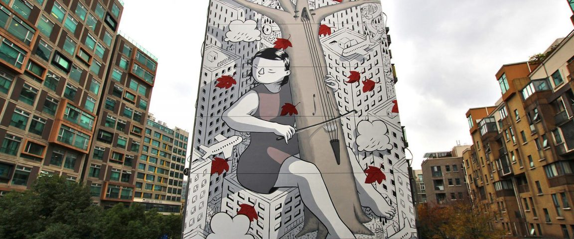 Street Artist Millo Debuted Two Large-Scale Murals in Shanghai -murals, mural, gohome