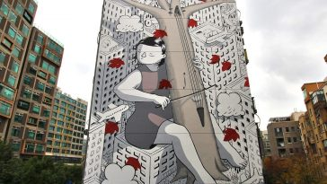 millo fy 1 364x205 - Street Artist Millo Debuted Two Large-Scale Murals in Shanghai