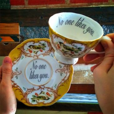This Woman Creates Teacups To Insult Your Guests With Class -porcelain
