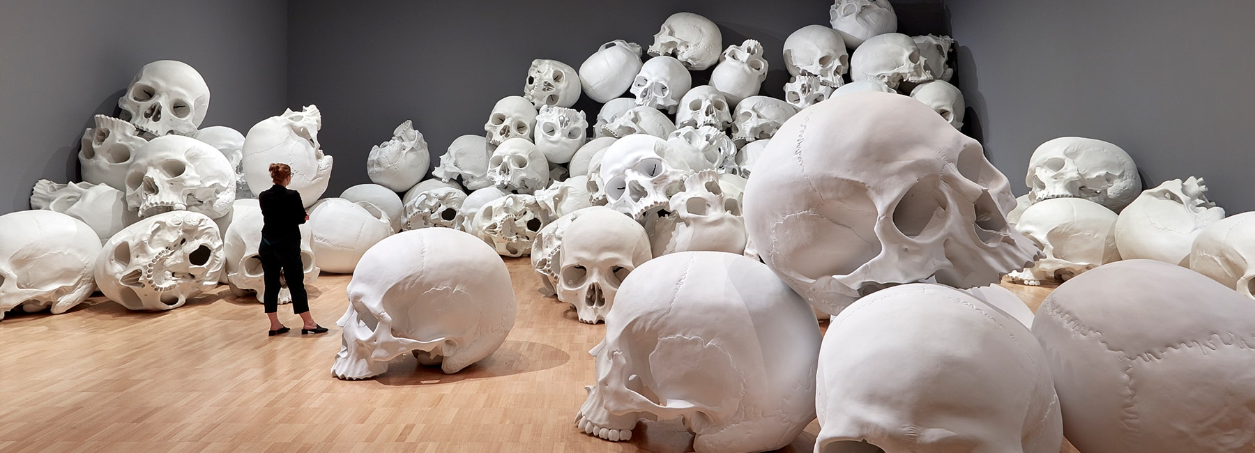 Ron Mueck Stacks Hundred Skulls At His Biggest Ever