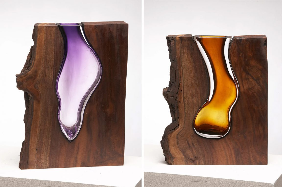 Scott Slagerman Studio Creates Elegant Glass Vases Inside